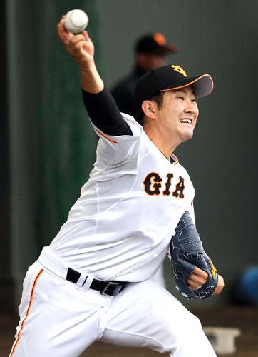巨人菅野開幕へ前進 変化球の制球クリア