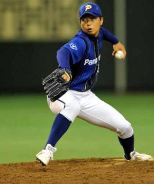 7月、パナソニックの補強選手として都市対抗野球で力投する大阪ガスの松永 7月、パナソニックの補強