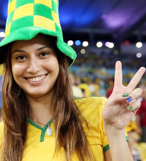 キュートなブラジルサポーター