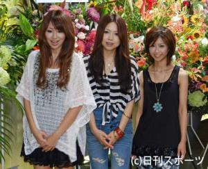 再結成ライブを行ったZONEの左からTOMOKA、MIYU、MAIKO 再結成ライブを行ったZO