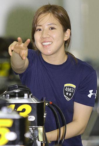 福山市初の女子レーサーとして日々成長を続ける実森美祐