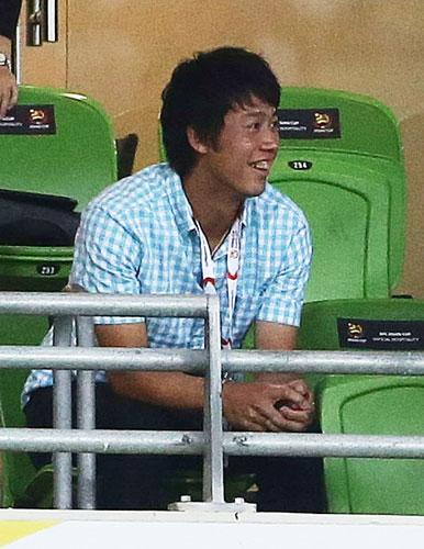 初戦突破の錦織、アジア杯観戦