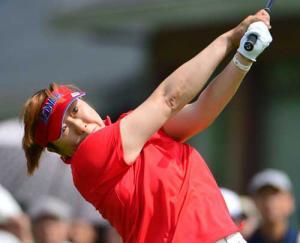 晃子「良い感触で回れた」/女子ゴルフ