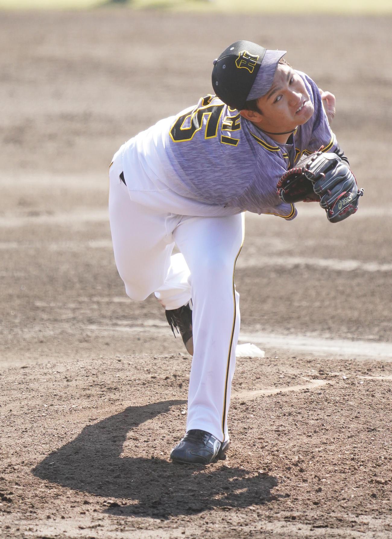 中日対阪神 先発登板した西純は2回以降は立ち直り好投する(撮影・森本幸一)