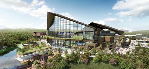 プロ野球日本ハムが北広島市に建設する新球場の完成予想図