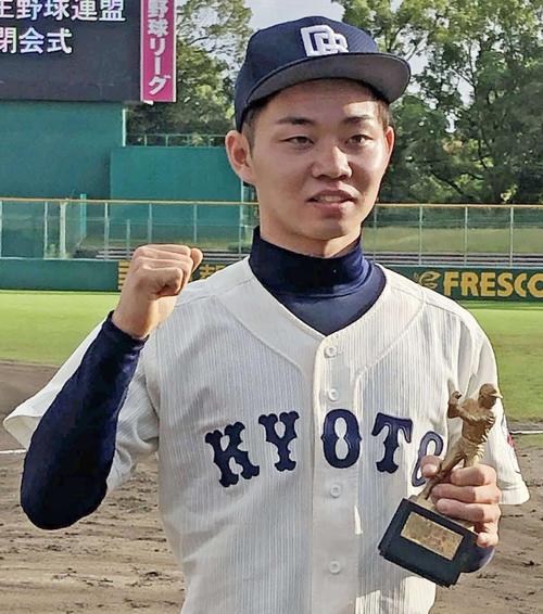 19年10月、秋季リーグ戦で首位打者を獲得した京大・北野