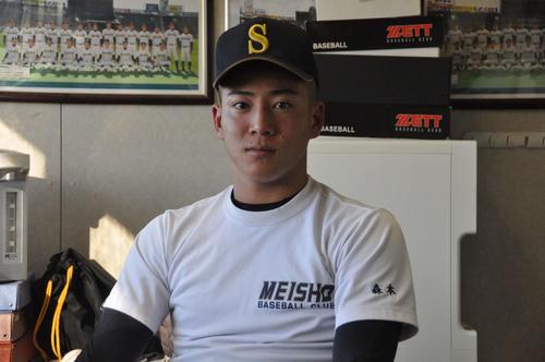 来秋ドラフト上位候補の明石商・来田涼斗外野手(2年)