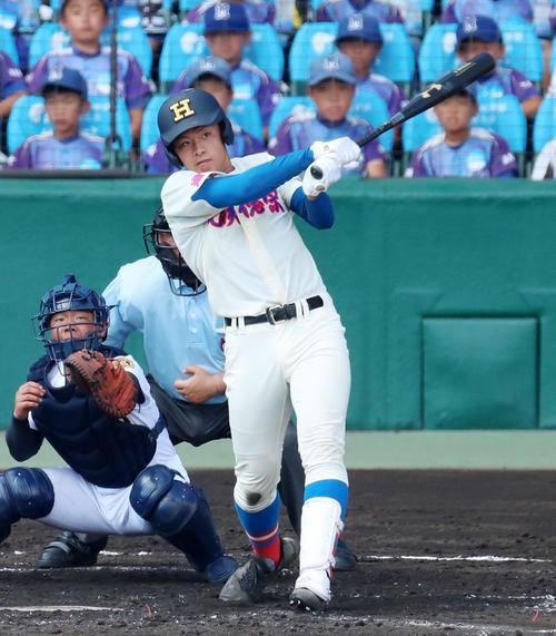 今夏の鳴門戦で通算57号を放った花咲徳栄・野村