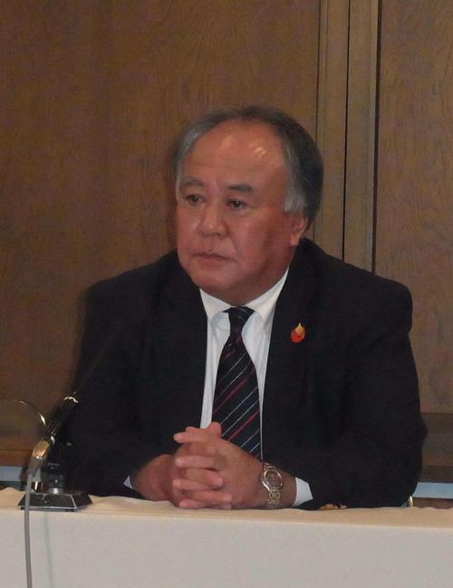 日本高野連の竹中事務局長(2014年11月27日撮影)
