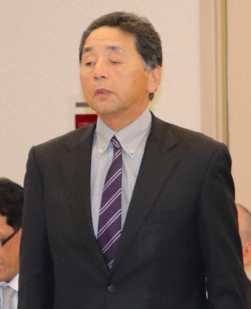 有識者会議に出席した佐賀北元監督で、現在は副部長の百崎氏