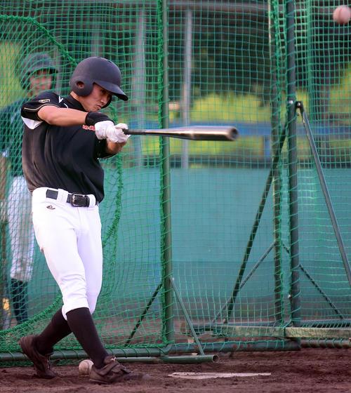 浜北西・東は、打撃練習で鋭い打球を飛ばす(撮影・前田和哉)