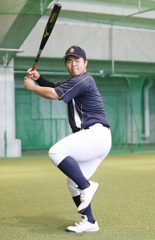 青森山田のおかわり君こと平野内野手(撮影・野上伸悟)