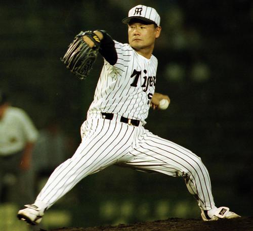阪神時代の古溝克之氏(1998年6月3日撮影)