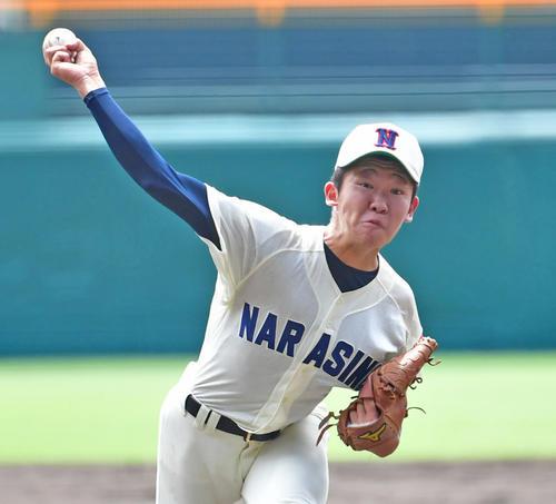 習志野・飯塚脩人投手(2019年8月14日)