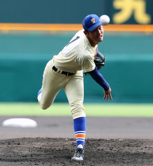 星稜・奥川恭伸(2019年8月22日撮影)