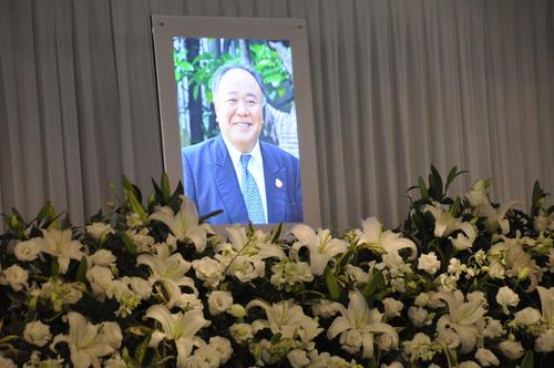 日本高野連・竹中雅彦前事務局長お別れの会の祭壇