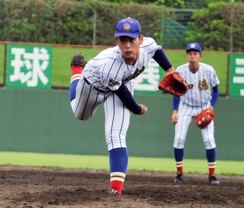 知徳(静岡)栗田和斗投手