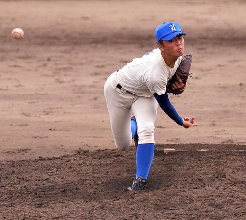 磐城のエース沖投手(19年9月24日撮影)