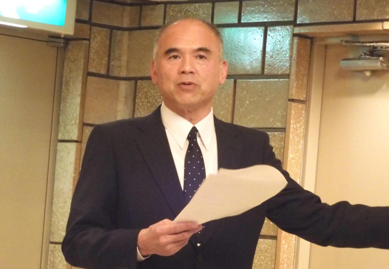 日本高野連の小倉好正事務局長(2019年11月29日撮影)