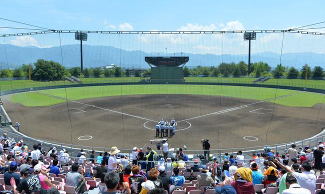 関東大会が行われる予定だった山梨県の山日YBS球場