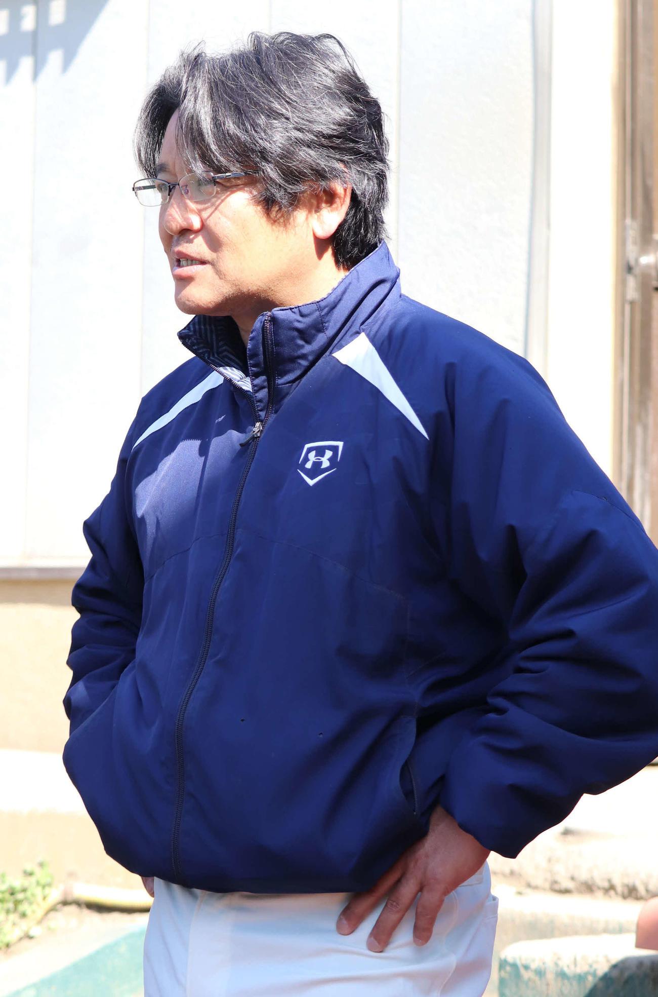 花咲徳栄・岩井隆監督(2020年3月19日撮影)