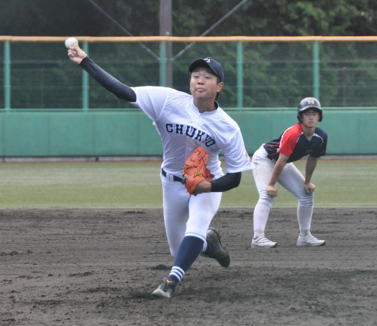中京大中京先発の高橋宏斗投手