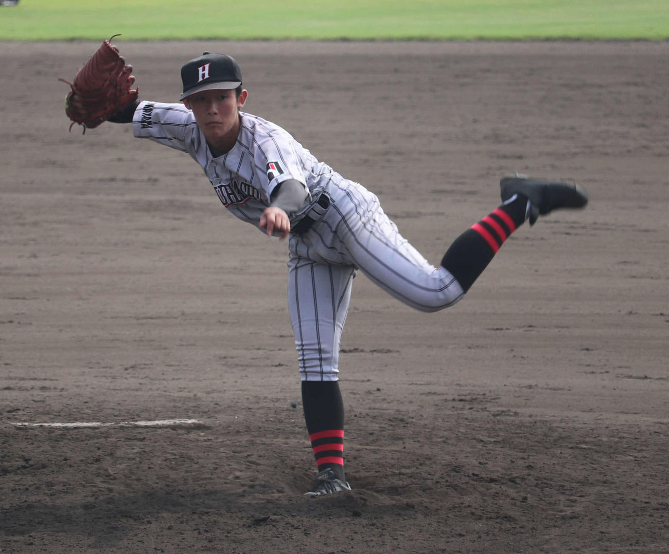 9回5安打9奪三振で1失点完投した初芝橋本・森田