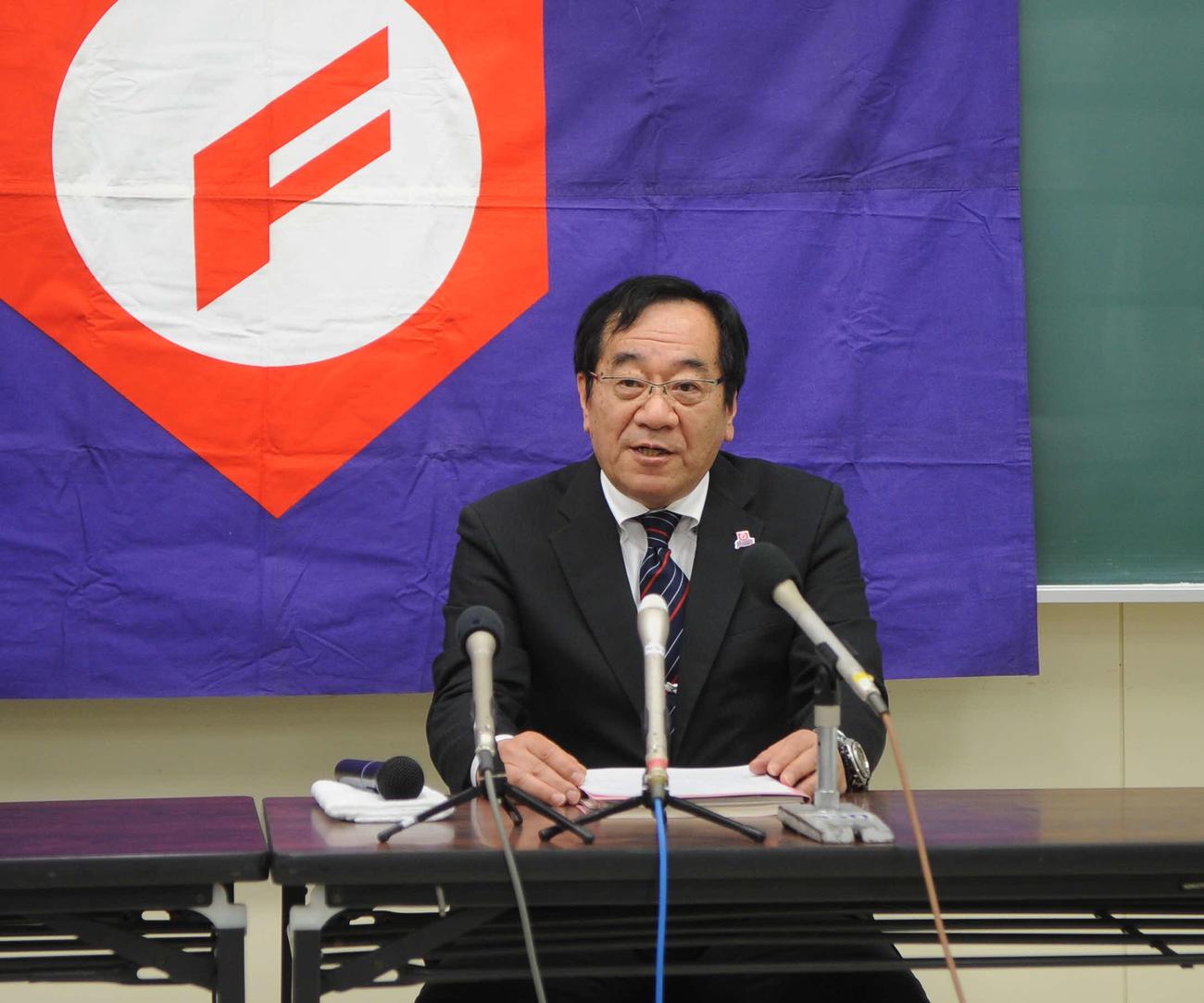 富樫信浩会長(2020年4月4日撮影)