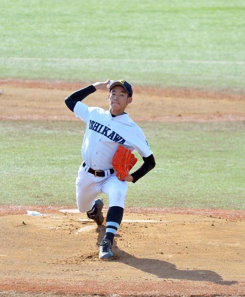 柴田大学法石川選抜した学法石川高橋(撮影・佐藤研究)