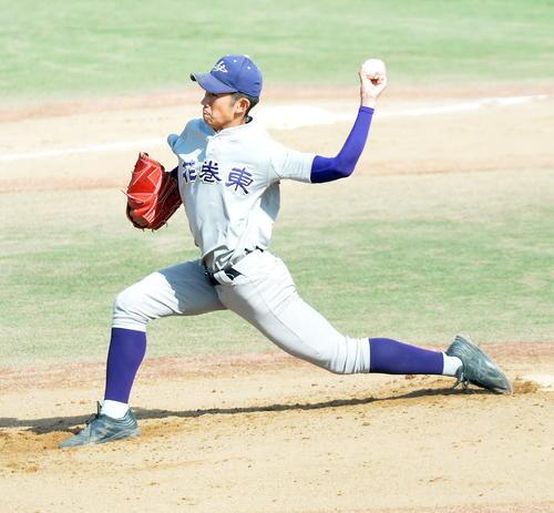 角館の花巻東選抜した花巻東・中井(撮影・佐藤研究)