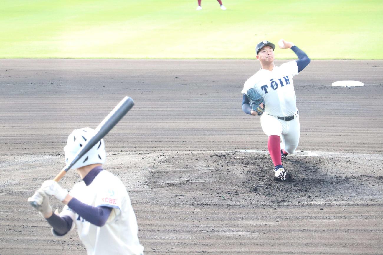先発した大阪桐蔭・松浦