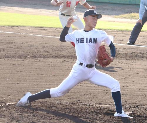 選抜された龍谷大平安・石田