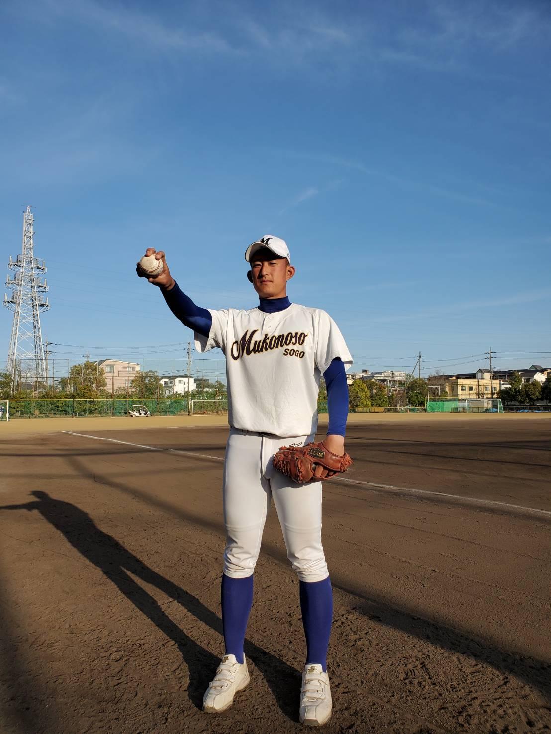 武庫荘総合・斉藤汰直投手は今季の飛躍を誓い、球速150キロ到達を目指す