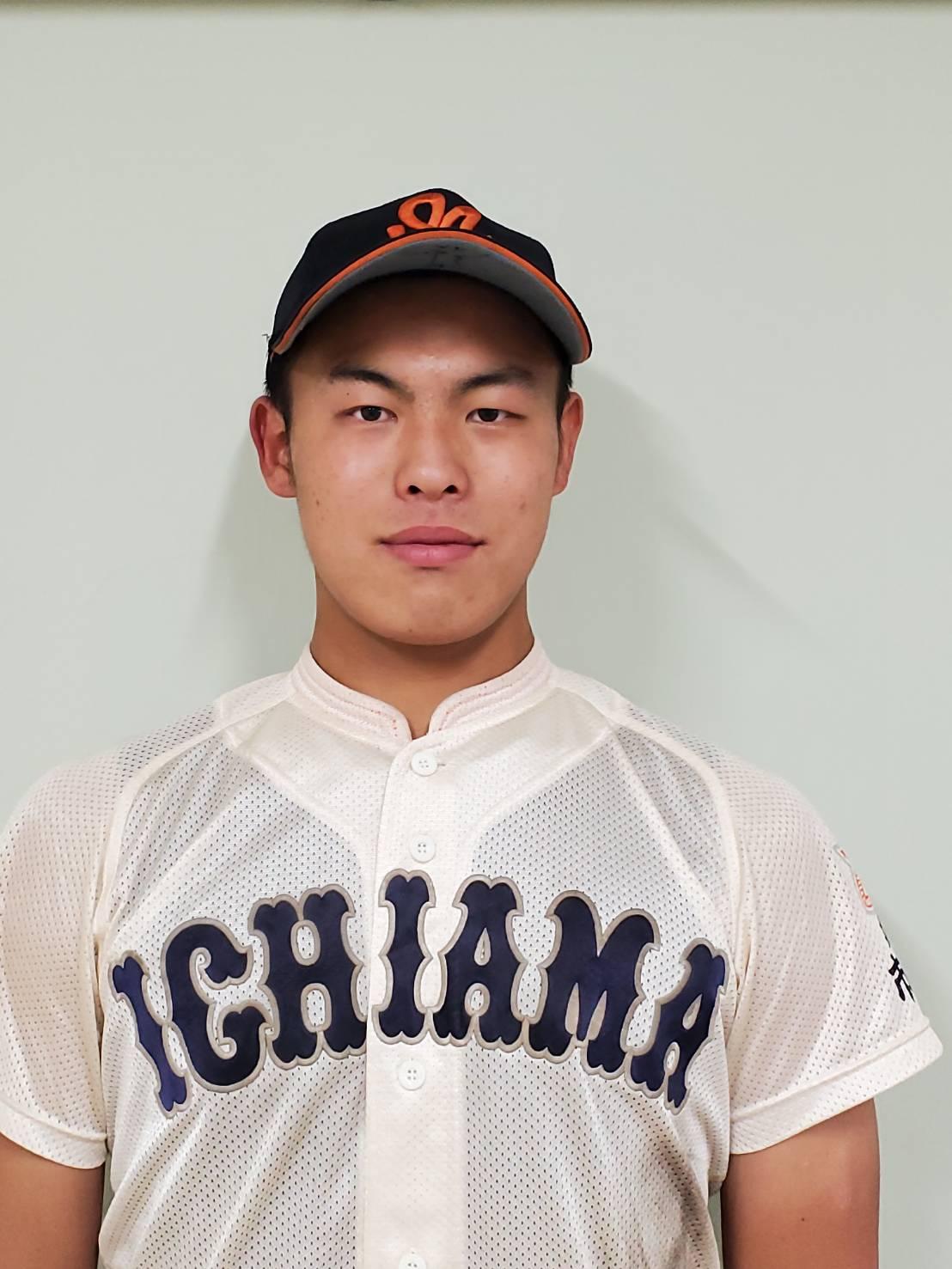市尼崎の米山航平外野手は阪神佐藤輝をほうふつさせる風貌だ