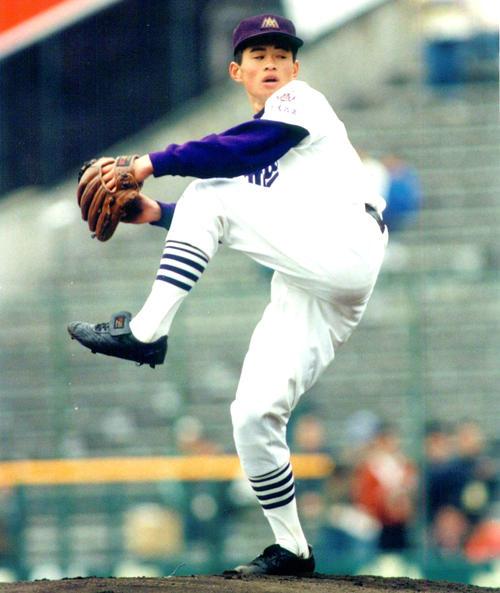 第63回センバツ高校野球 松商学園対愛工大名電 愛工大名電時代のイチロー(撮影は1991年3月29日)
