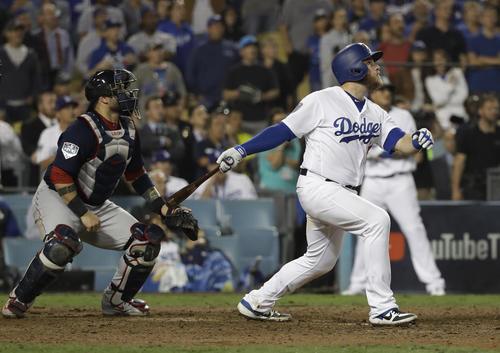 サヨナラ本塁打を放ったドジャース・マンシー
