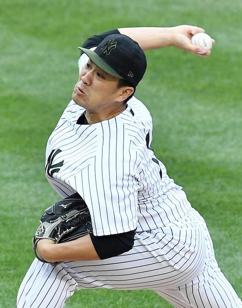 ヤンキース田中将大(2018年5月27日撮影)