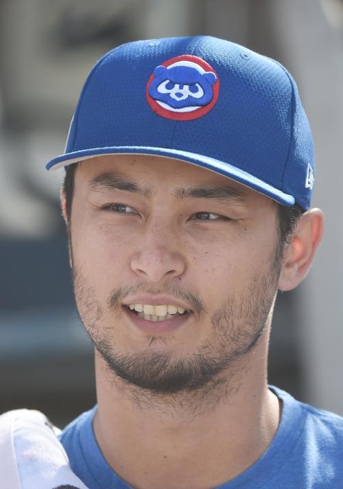 カブスのダルビッシュ有投手(2019年3月19日撮影)
