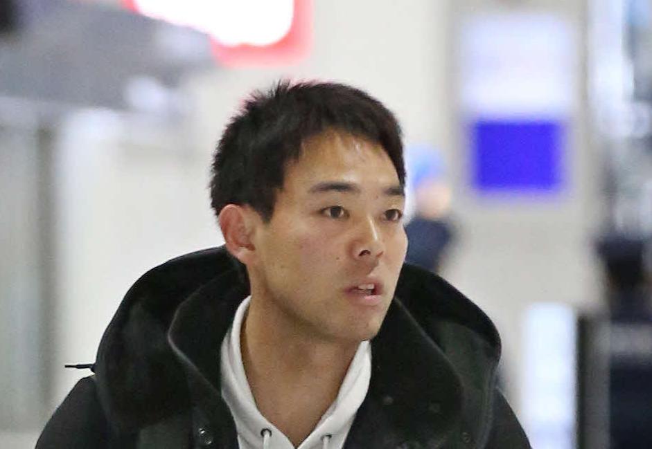 レッズ秋山翔吾(2020年2月12日撮影)