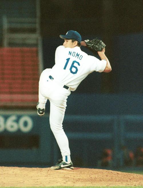 95年6月、メッツ戦でメジャー初勝利を飾ったドジャース野茂英雄