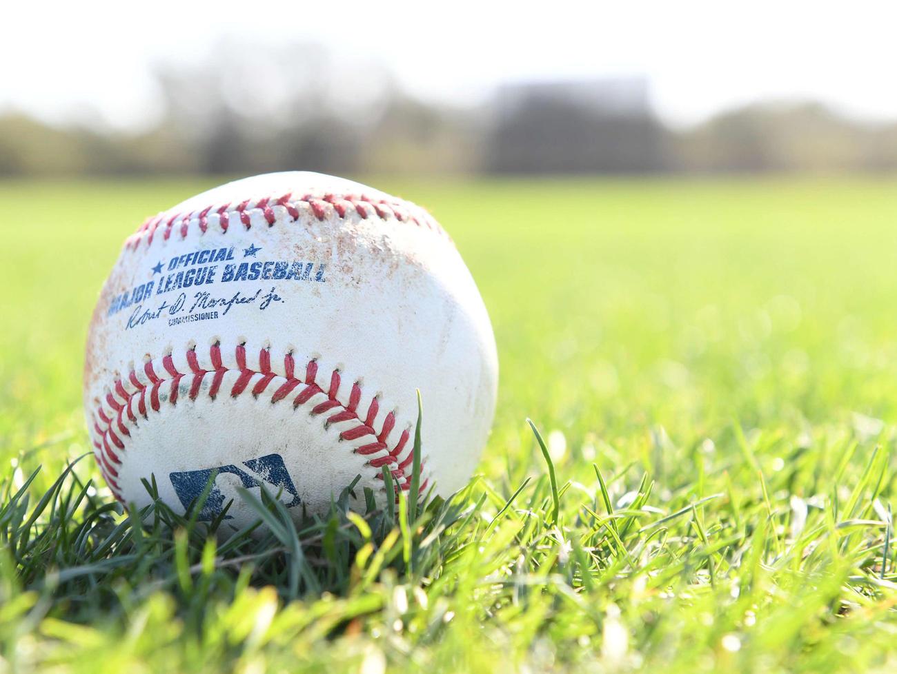 MLB(大リーグ)の公式球(2020年2月22日撮影)