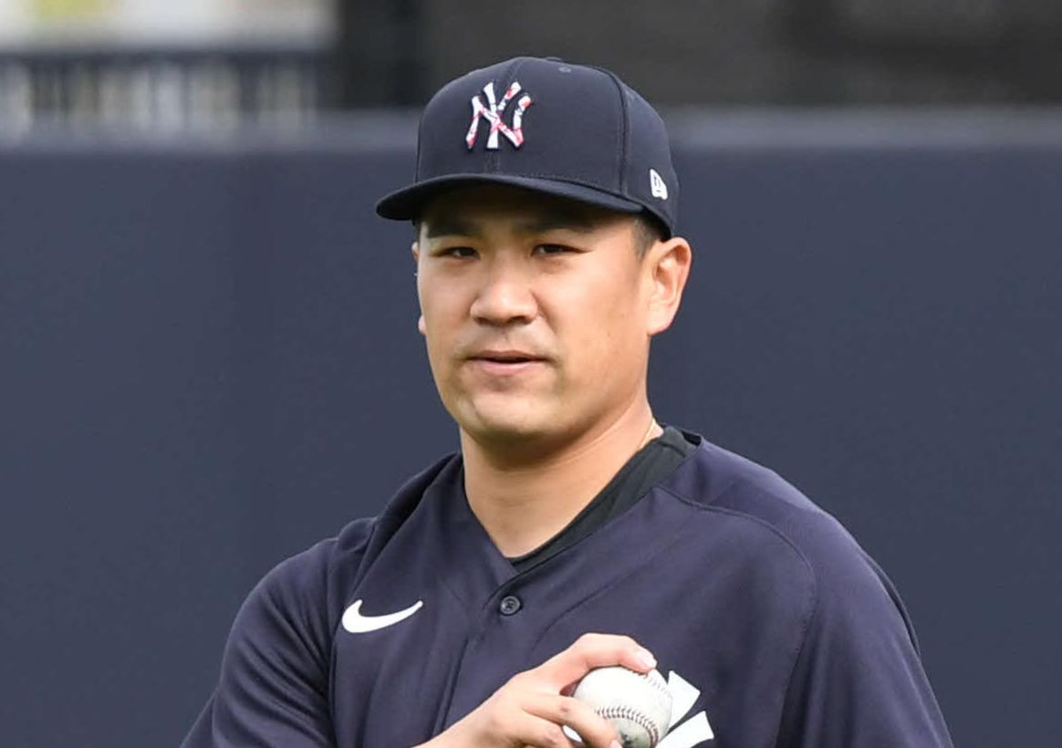 ヤンキース田中将大(20年2月14日撮影)