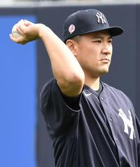 マー君20分ほど練習「励みになるステップ」監督 - MLB : 日刊スポーツ