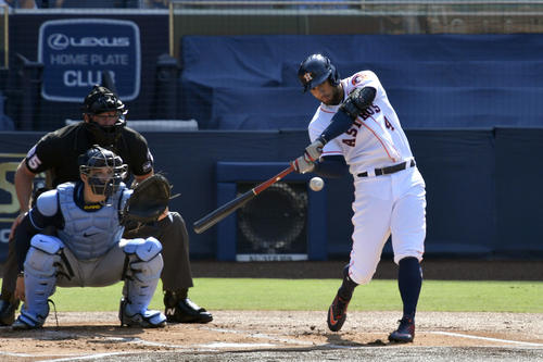 先頭打者本塁打を放つアストロズ・スプリンガー(ロイター)