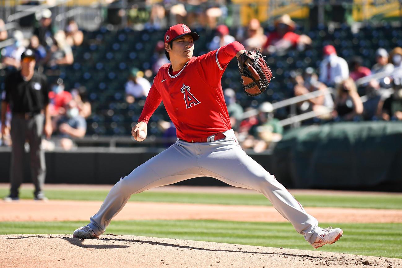 今季オープン戦に初先発したエンゼルス大谷(Angels Baseball)
