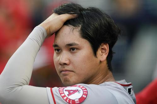 ヤンキース戦に出場した大谷(AP)