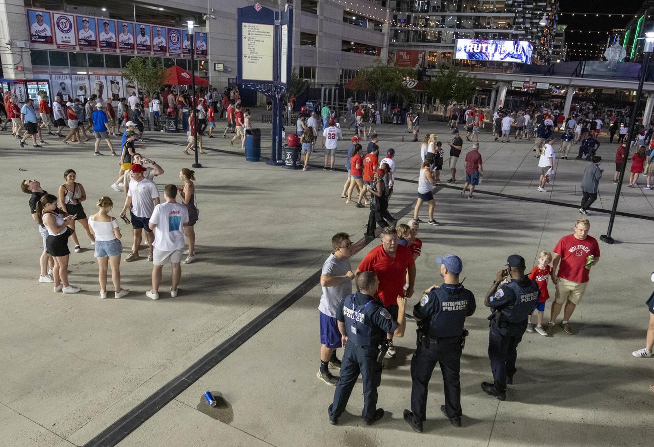 球場ゲート外で銃撃事件が起きたナショナルズパーク(USA TODAY=ロイター)