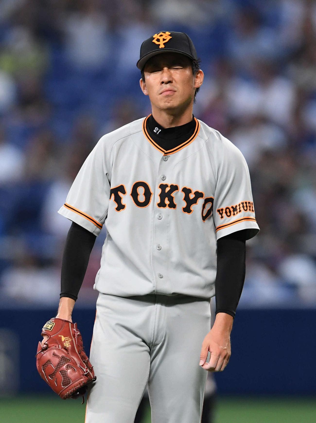 巨人吉川光夫「実力不足」4回途中8失点KOに反省 - 野球 : 日刊スポーツ