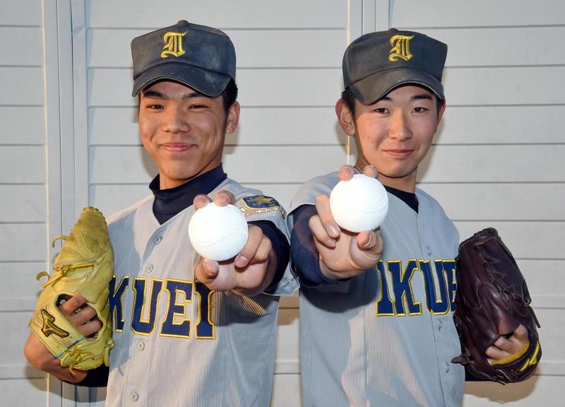 秀光中が誇る左右の両輪。笹倉(左)と伊藤