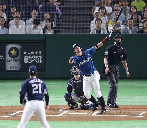 日本ハム対西武 1回裏日本ハム1死、2番打者の大田は左飛に倒れる。投手十亀(撮影・河野匠)